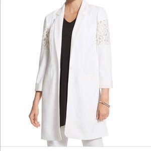 Chico's Black Label Lace Overcoat Dress Jacket